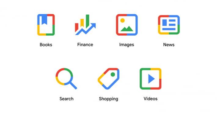 Google new search menu icons