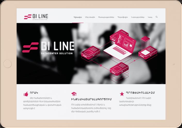 Bi line - Website development