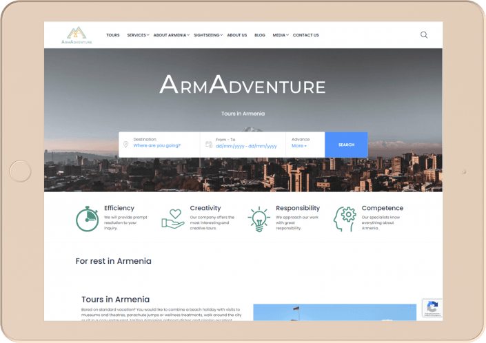 Armadventure - Website development