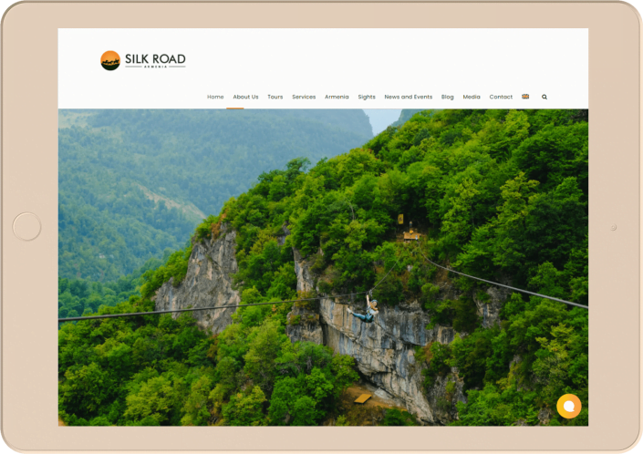 Silkroad Armenia - Website development